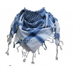 Shemagh(ensidig), hvit/lys blå