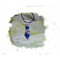 Anheng, Blå engel- sølv m/2 mørke blå lapis stener