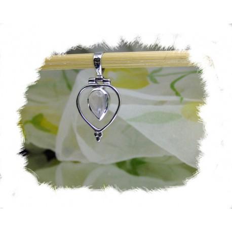Anheng, Lite sølvhjerte m/rosekvarts