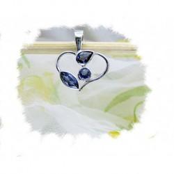 Anheng, Åpent hjerte - sølv m/3 iolit stener