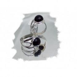 Sølvring m/onyx regulebar