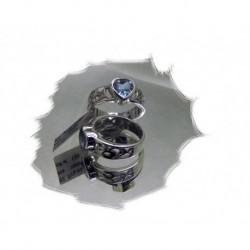 Sølvring m/hjerteformet topas