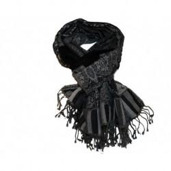 Ullskjerf, sort/grå